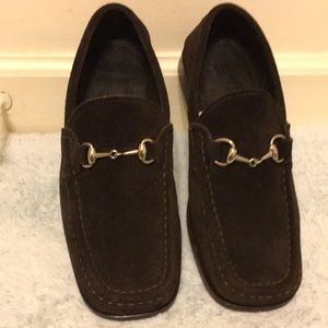 Gucci Vintage Horsebit  Suede Loafers Size 5B